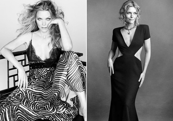 Az 57 éves Michelle Pfeiffer is még mindig remekül néz ki. Szívesen mutatja meg bombaalakját testhezálló ruhákban.