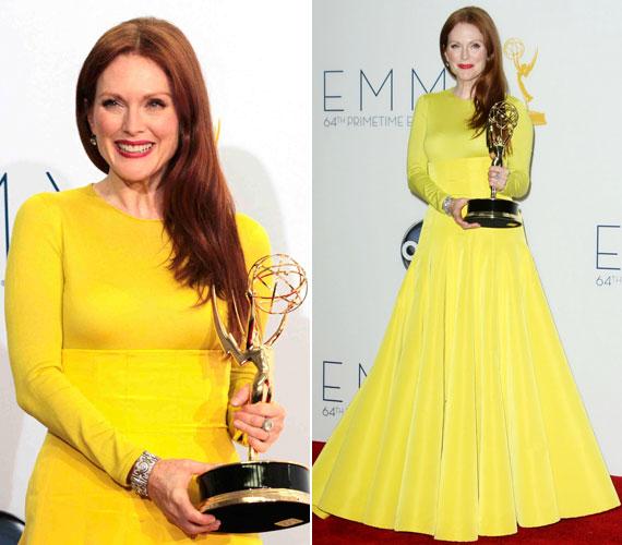 Tavaly szeptemberben élénksárgában vette át az Emmy-díjat a Versenyben az elnökségért című tévéfilmben nyújtott alakításáért, melyben Sarah Palint formálta meg. Ugyanezért kapta a Screen Actors Guild Awardot is.