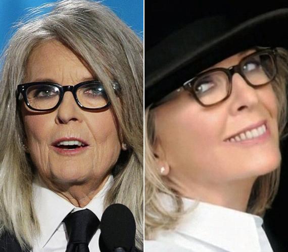 Diane Keaton sem arról híres, hogy minden hónapban plasztikáztat, reklámfilmjében mégis leretusálták a ráncait.