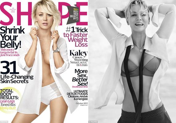 """""""Egész karrierem során sohasem kellett ilyen keményen dolgoznom, hogy jól nézzek ki"""" - nyilatkozta Kaley. A mozgásnak megvolt az eredménye, a színésznő remek formában van."""