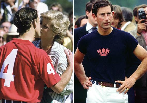 A sport igazán jót tett a trónörökösnek. Látszik, hogy a pólóedzésektől milyen széles válla és izmos karjai voltak.