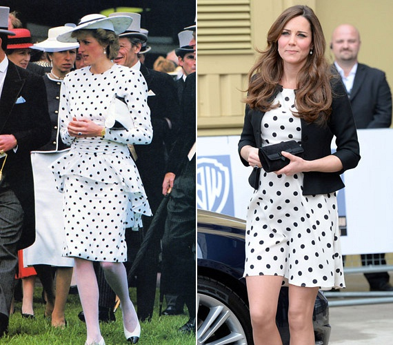 Mindketten odavannak a pöttyös darabokért, így aztán nem csoda, hogy egy nagyon hasonló hófehér ruhára esett a választásuk.
