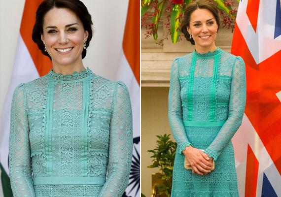 Ahogy meglátták a rajongók Katalin hercegné türkiz ruháját, máris kiürítették az online shopokat. Nem csoda, hogy mindenki tetszését elnyerte a darab - egyszerre volt elegáns és csábító.