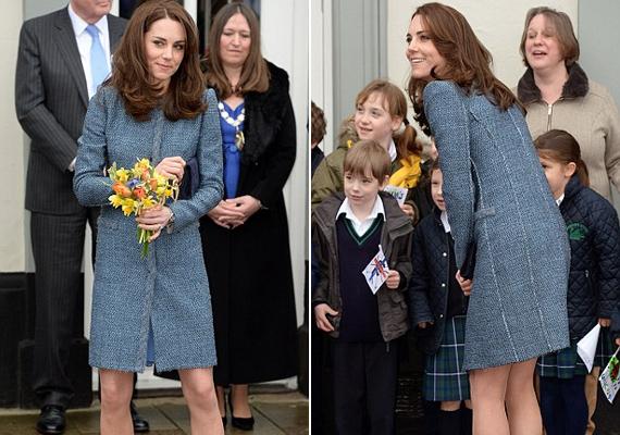 Katalin hercegné egy bolt megnyitó ünnepségén vett részt ebben a királynő által túl rövidnek tartott együttesben. Az üzlet teljes bevétele súlyos betegséggel küzdő gyermekekhez kerül majd az alapítványon keresztül.
