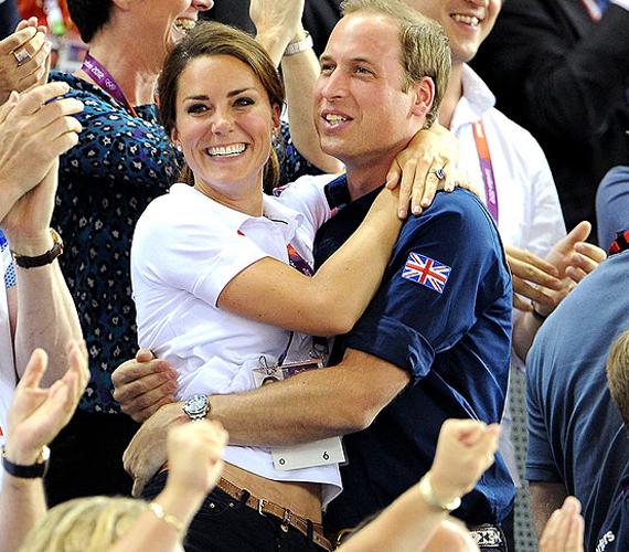 A 2012-es olimpia a hercegi párnak is szép pillanatokat hozott, kéz a kézben szurkoltak.