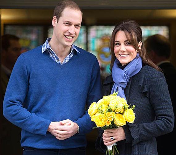 Vilmos herceg virággal köszöntötte kedvesét, aki kórházba került a terhessége elejét kísérő rosszullétek miatt.
