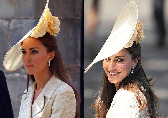 """""""Kilát egyáltalán ebből a kalapból? Nagyon csinos, de ez a fejfedő tönkreteszi az összhatást!"""" - írta az egyik rajongó."""