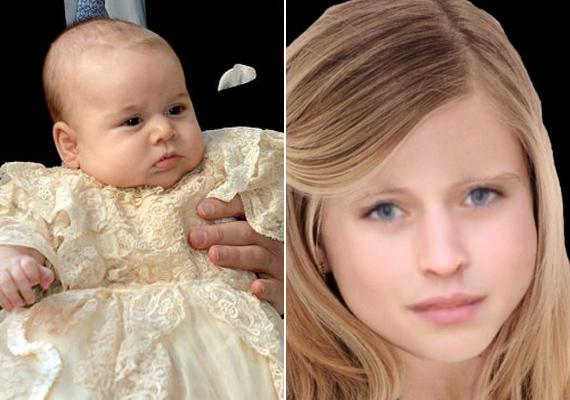 Charlotte hercegnő igazán bájosan fest hétéves kori fotóján. El is tudjuk képzelni, hogy ilyen lesz, hiszen édesanyától és édesapjától is remek géneket örökölt.