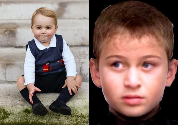 Így néz majd ki György herceg hétévesen. A fotón tiszta Vilmos herceg, ami nem is csoda, hiszen már most hasonlít rá.