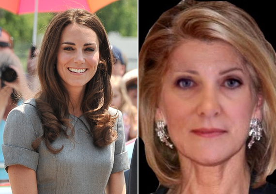 A képmanipulátor szakértők szerint Katalin hercegnő így fest majd 47 évesen. Elképzelhető, hiszen a fotón kísértetiesen hasonlít édesanyjára, Carole Middletonra.