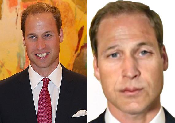 Vilmos herceget is hozzáöregítették feleségéhez. A Photoshop-bajnokok szerint így néz ki majd a trónörökös 47 évesen.