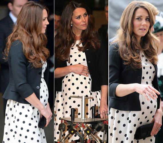 A brit alattvalók a felvételek láttán talán már nem aggódnak amiatt, hogy a hercegné a hetedik hónaphoz képest túl vékony lenne.