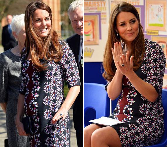 Most már nemcsak állva, de ülve is szemmel látható, hogy Katalin hercegné várandós.
