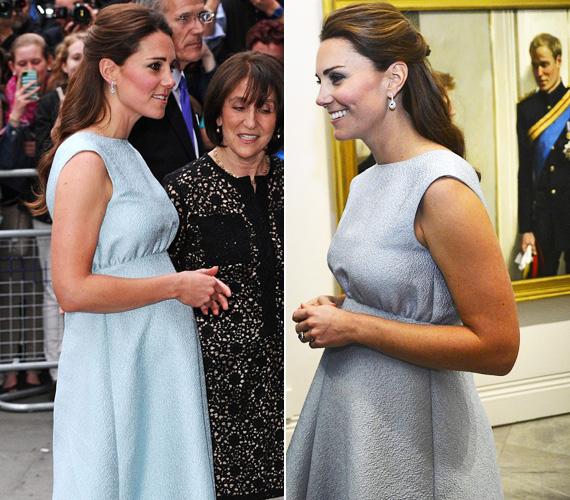 A mell alatt bővülő ruhában már valóban úgy nézett ki, mint egy várandós kismama. Az egyetemen művészettörténetet hallgatott, így elemében volt az est során.