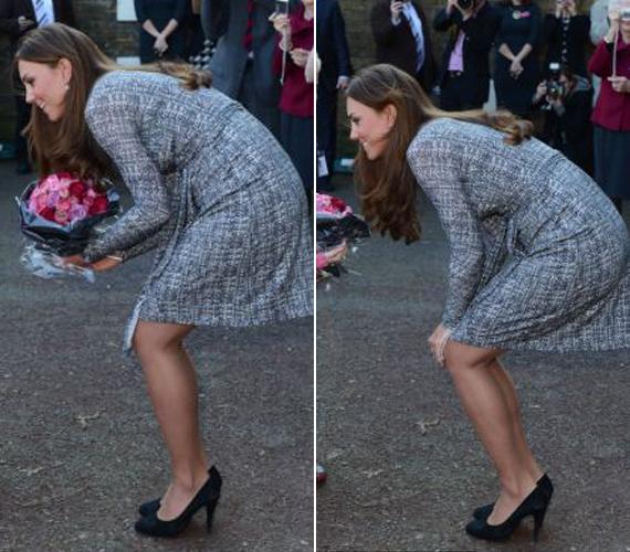 Katalin hercegné felszedett egy-két kilót, ami csak előnyére vált. Mint mondta, az különösen tetszik neki, hogy kikerekedett a feneke.
