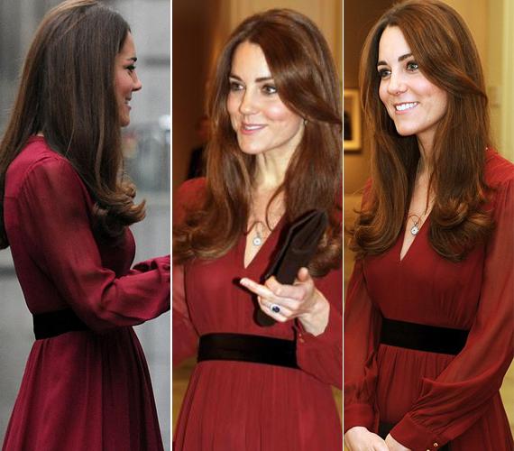 Katalin hercegné 12 hetes terhes volt, amikor leleplezte a róla készült portrét. Itt még nem igazán látszik a pocakja.