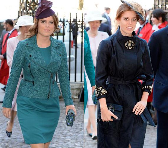 Beatrice yorki hercegnő egy fekete, magas nyakú Hannah Coffin kabátot, míg testvére, Eugenie egy csipkés motoroskabátot választott a Burberrytől.