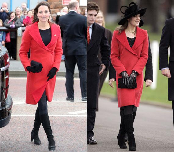 Április elején a Versace divatház piros kabátját viselte, amikor megnyitotta Skóciában a Tamar Manoukin Szabadidő Központot. Ugyanezt a darabot egy figyelemfelkeltő kalappal láthattuk már rajta 2006-ban, amikor Vilmos herceg érkezésére várt Sandhurstben.