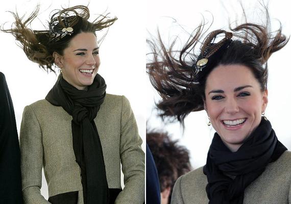 2014-ben a szeles időjárás kissé megviccelte a hercegnét. A haja úgy festett, mint egy szénakazal, de ő csak nevetett az egészen.