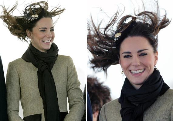 Szintén a szél tette tönkre a hajkölteményét 2011-ben, nem sokkal az esküvőjük előtt. Nem zavarta a dolog, jót nevetett a frizurafiaskón.
