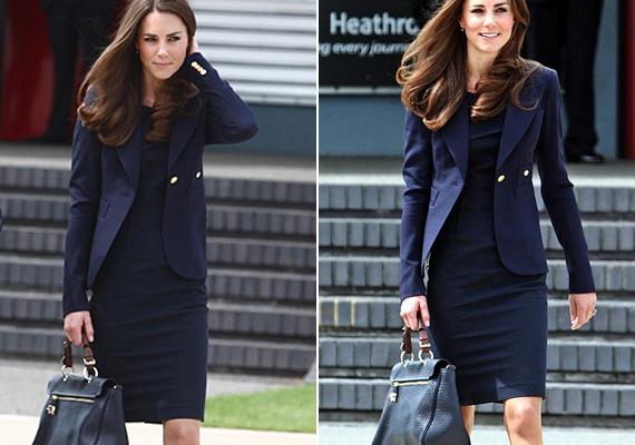 Ezt a Mulberry táskát viselte, amikor Vilmos herceggel Kanadába repültek az esküvőjük után.