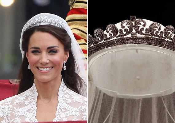 Az esküvője napján viselte ezt az ovális, glóriaszerű tiarát. Vajon újra ezt veszi majd fel?