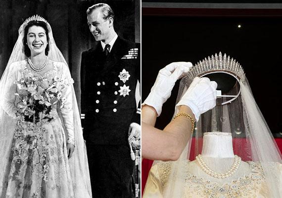 Választhatja Mária királynő tiaráját is, amit Erzsébet királynő az esküvőjén viselt.