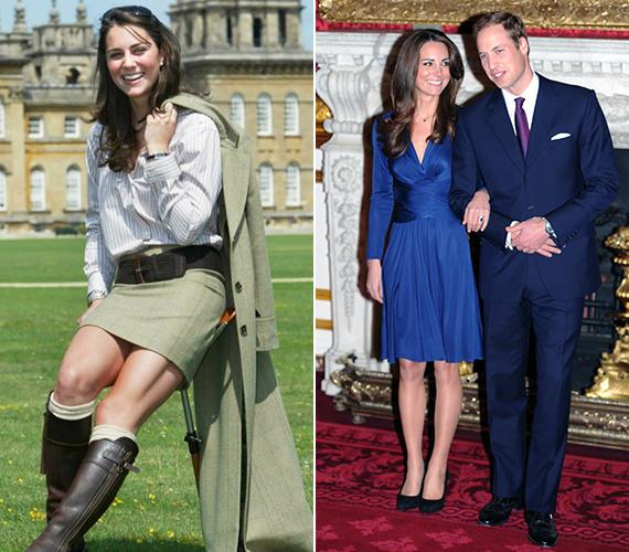 Az eljegyzés előtti időkben az akkor még csak Kate Middletonként ismert lány korántsem volt olyan elegáns, mint Katalin, a trónörökös jegyese vagy Katalin, a hercegnő.