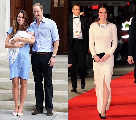 Első gyermeke születésekor a stílusa még kiforrottabbá vált. Bár a kórházat egy nagyon egyszerű ruhában hagyta el, megjelenéseikor már-már királynői attitűddel vonult végig a vörös szőnyegen.