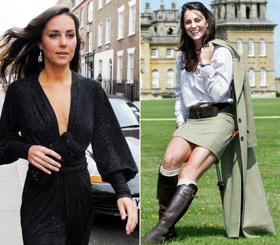 Az esküvő előtt még senki nem szólhatott bele abba, hogy mit viseljen Kate Middleton, vagyis Katalin hercegnő, jöhettek a csaknem köldökig kivágott ruhák és a miniszoknya. Ilyen merész ruhákat évek óta nem láthattunk rajta.