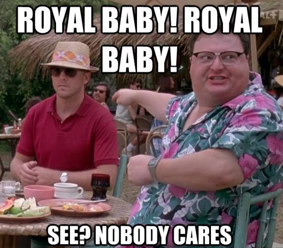 A világ egyik felét leginkább ez a kép jellemezné. Királyi baba! Kit érdekel?
