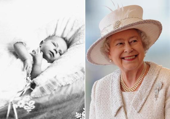 A 88 éves Erzsébet királynőről is készült fénykép kisbabakorában. Amennyire a felvételből meg lehet ítélni, hasonlít önmagára.