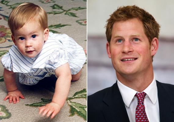Harry herceg, aki idén 30 éves, cuki, vörös hajú kisbaba volt.