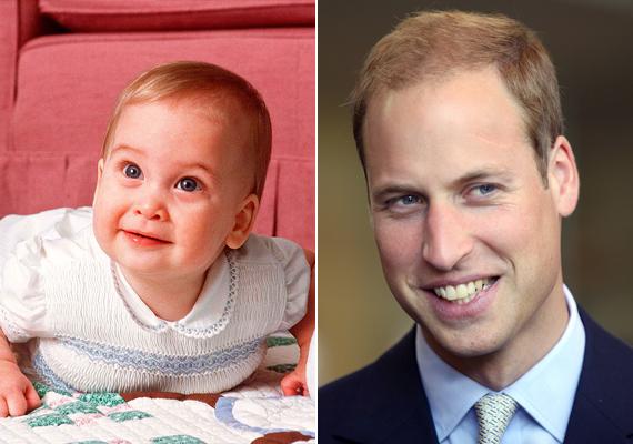 A 32 éves Vilmos herceg már kisbabaként is mosolygós volt.