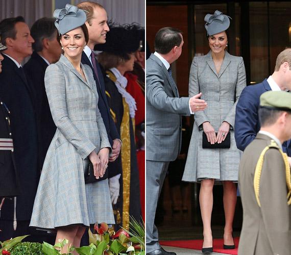 Katalin hercegnő a bejelentés óta először mutatkozott nyilvánosan. Most valószínűleg 12-13 hetes terhes.