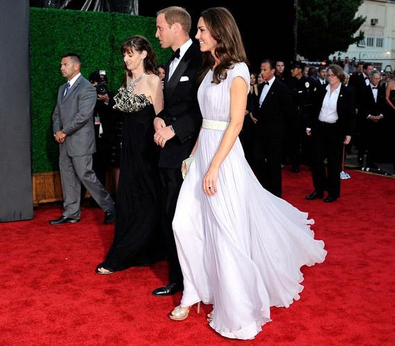 Az est egyik fénypontja kétségtelenül a hercegi pár érkezése volt.