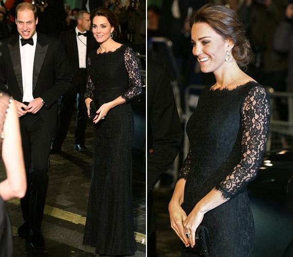 A hercegnő az estére Diane von Furstenberg egyik csipkeruháját választotta.
