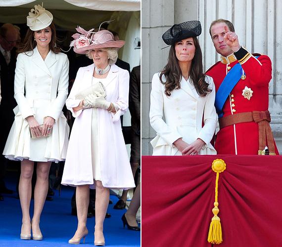2012 júniusában egy fehér szoknyát és egy szintén fehér Alexander McQueen kabátkát viselt egy windsori eseményen. Ugyanez a szett volt rajta egy évvel korábban, a Trooping the Colour légibemutatóján.
