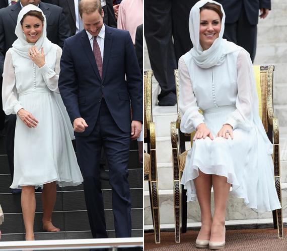 2012 szeptemberében párjával ázsiai körúton jártak, Kuala Lumpurban volt rajta ez a Beulah London ruha.