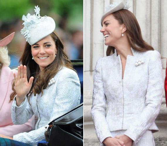 Katalin hercegnő ezüst ruháját ismét Alexander McQueen alkotta.