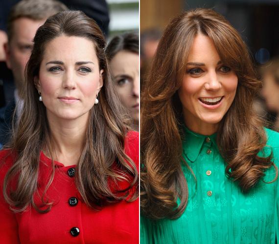 Katalin hercegnő alapvetően kiengedve szereti hordani hosszú, barna haját, amiből egy-egy tincset néha lazán hátra tűz. Egy másik alkalommal elöl fokozatosan hosszabbodó, hullámosra szárított hajjal jelent meg a nyilvánosság előtt.