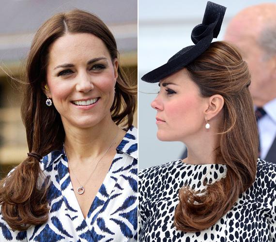 Vilmos herceg felesége, a királynő és az udvar utasításaira fittyet hányva, olykor kissé kócos frizurával jelenik meg a fotósok előtt, hiszen most az ilyen jellegű copfok nagyon divatosak. Természetesen láttuk már ugyanennek a hajnak az elegáns változatával is.