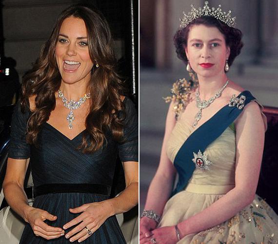 A királynő Haidarábád nizámjától kapta nászajándékba a tiarát és a nyakláncot. A tiarát azóta szétszedték, ám a nyaklánc máig érintetlen, sőt, olykor még mindig viseli II. Erzsébet.