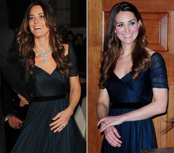 A Nemzeti Arcképtárban viselt kék selyem-tüll Jenny Packham ruhában már 2013. október 24-én is megjelent egy eseményen.