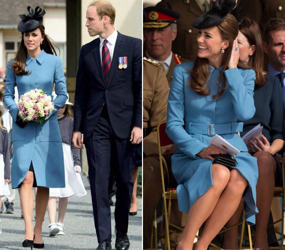 Ez a búzavirág kabát a kedvence a hercegnőnek.