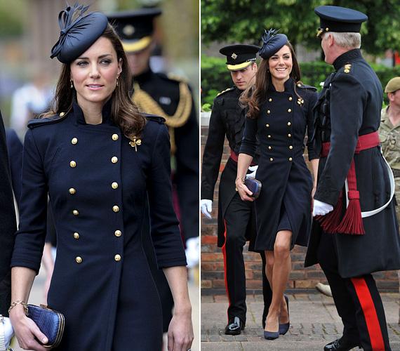 2011 júniusában egy alakot hangsúlyozó, tengerészkék Alexander McQueen kabátban vett részt a fegyveres erők napján.