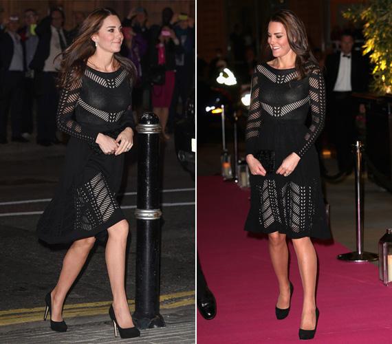 Természetesen a klasszikus fekete sem maradhatott ki a ruhatárából: ezt a fekete kötött Alice Temperley ruhát Londonban viselte tavaly októberben, az Action on Addiction őszi gáláján.
