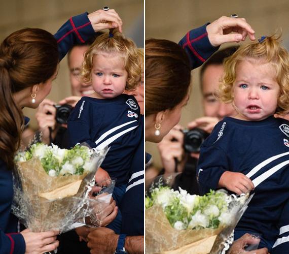 Bella Campbell-James egy 16 hónapos brit kislány, akiről az anyukája utólag azt nyilatkozta, általában nem sírós, de fogadni mert volna rá, hogy akkor kezd majd igazán óbégatni, ha meglátja a hercegnőt. Igaza lett, Katalin hercegnő pedig hiába próbálta, nem tudta felvidítani.