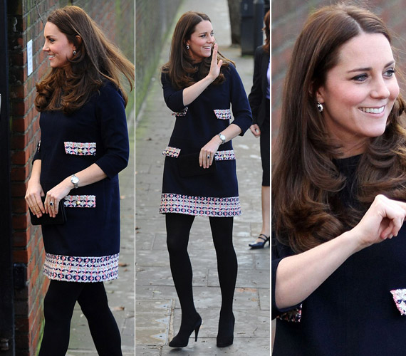 A tengerészkékMadderson London ruhában mindenki a hercegnő lábát nézte.