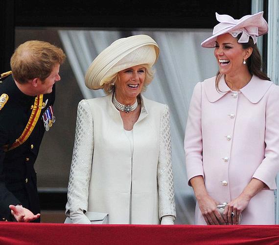 Katalin hercegnő 2013-ban, a Trooping the Colour júniusi rendezvényén viselte ugyanezt a szettet, csak más kalappal. Akkor ez volt az utolsó hivatalos esemény, amin részt vett, mielőtt a kis György herceg július 22-én világra jött.